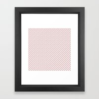 Taupe Polka Dots on Pink Framed Art Print
