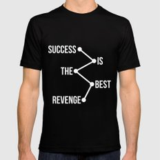 Success is the Best Revenge Light Mens Fitted Tee Black SMALL