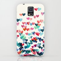 Galaxy S5 Cases featuring Heart Connections - watercolor painting by micklyn