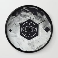 Moon Eye Wall Clock