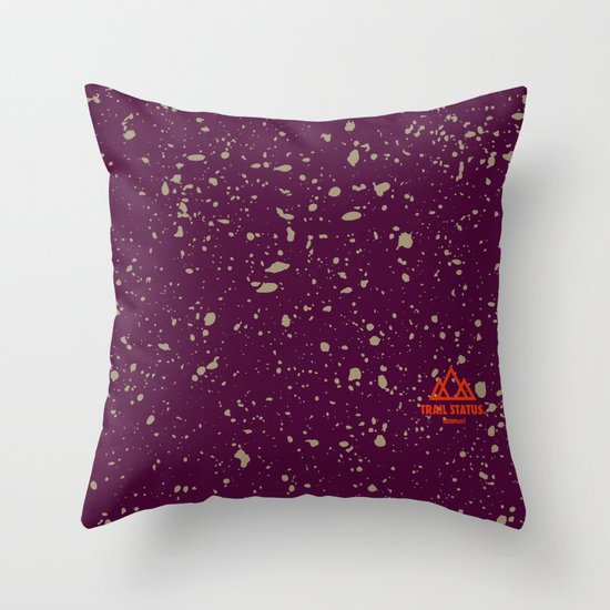 Trail Status / Orange Throw Pillow