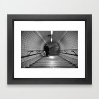 Empty London Underground… Framed Art Print