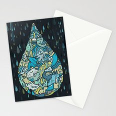 If heaven were a drop of rain Stationery Cards