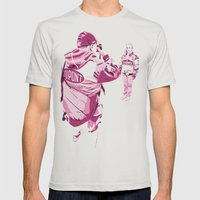 Racing Fans Mens Fitted Tee Silver SMALL