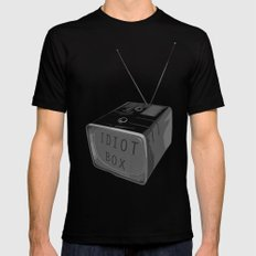 Idiot box SMALL Mens Fitted Tee Black