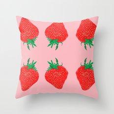 Strawberry Motif, 2013. Throw Pillow