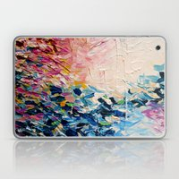 PARADISE DREAMING Colorful Pastel Abstract Art Painting Textural Pink Blue Tropical Brushstrokes Laptop & iPad Skin