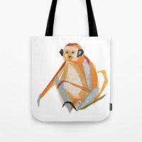 Charlie Monkey Tote Bag