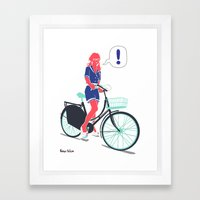 LE COOL GAL Framed Art Print
