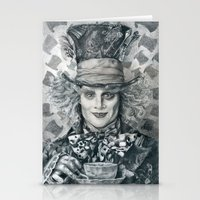 Mad Hatter - Johnny Depp Traditional Portrait Print Stationery Cards