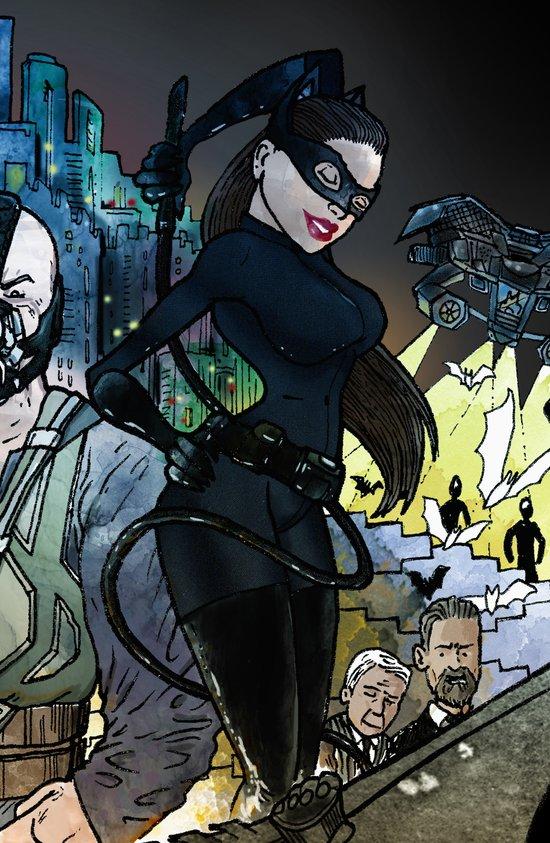 "Catwoman Rises - a ""you're COLOR"" promo! Art Print"