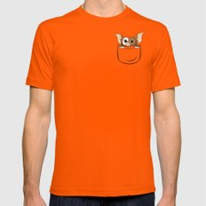 G pocket Mens Fitted Tee Orange SMALL