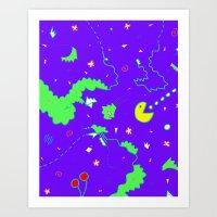 Pac-Man Art Print