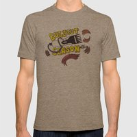 Buzzcut Season Mens Fitted Tee Tri-Coffee SMALL