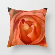 Softly Apricot Throw Pillow
