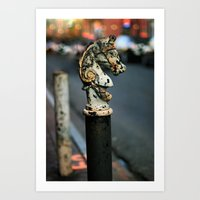 New Orleans Hitching Pos… Art Print