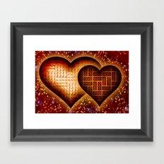 Lego Love - 162 Framed Art Print