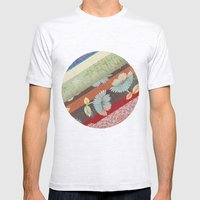 Color Strips Mens Fitted Tee Ash Grey SMALL
