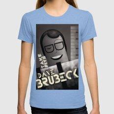 CASSANDRE SPIRIT - Dave Brubeck Womens Fitted Tee Tri-Blue SMALL