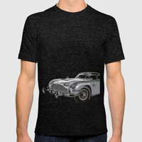 THE Bond Car. Mens Fitted Tee Tri-Black SMALL