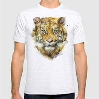 Tiger // Strength Mens Fitted Tee Ash Grey SMALL