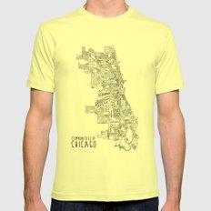 Communities of Chicago Mens Fitted Tee Lemon SMALL