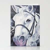 Pale White Horse Stationery Cards