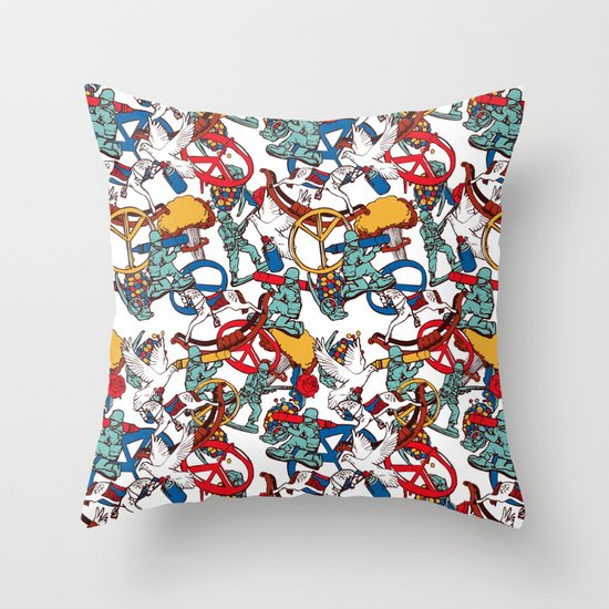 Warpaint Throw Pillow