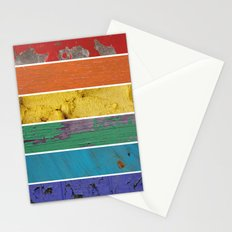 texture rainbow Stationery Cards