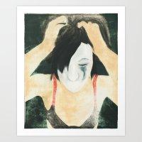 clown laid bare #3 Art Print