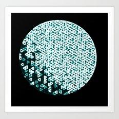 Glowing Green Circle Art Print