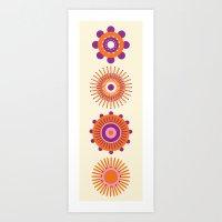 Sunburst: Orange Art Print