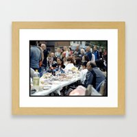Community Comes Together… Framed Art Print