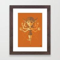 The Black Widow Framed Art Print