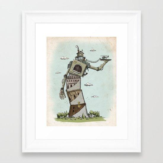 Crooked Framed Art Print
