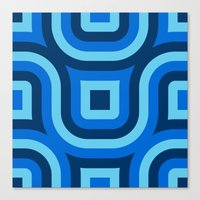 Blue Truchet Pattern Canvas Print