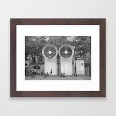 PEOPLE OF PARIS Framed Art Print