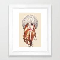 Furr Queen Framed Art Print