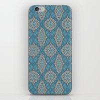 Tribal Tile Blue iPhone & iPod Skin