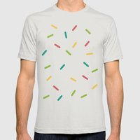 Donut Mens Fitted Tee Silver SMALL