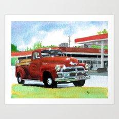1954 Chevrolet Pickup Art Print