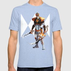 White Ranger Mens Fitted Tee Tri-Blue SMALL