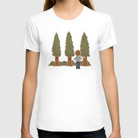 Happy Trees Womens Fitted Tee White SMALL