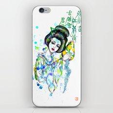 Aquarius, The Freedom Lover: Jan 21 - Feb 19 / Original gouache on paper iPhone & iPod Skin