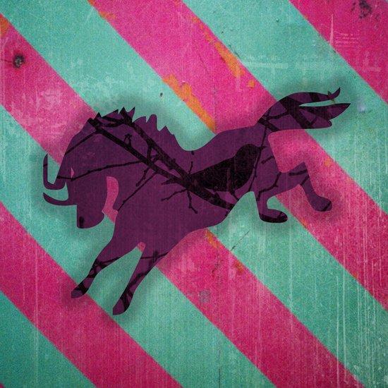 Jagdgewehr mit die Pferden. Art Print