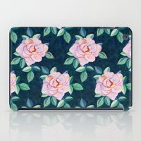 Simple Pink Rose Oil Painting Pattern iPad Case