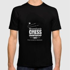 Shawshank Chess Championship SMALL Black Mens Fitted Tee