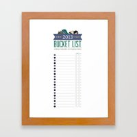 Bucket List Print Framed Art Print
