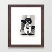 We Love Socks In BW Stri… Framed Art Print