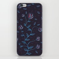 Abstract Glowing Blue Fl… iPhone & iPod Skin